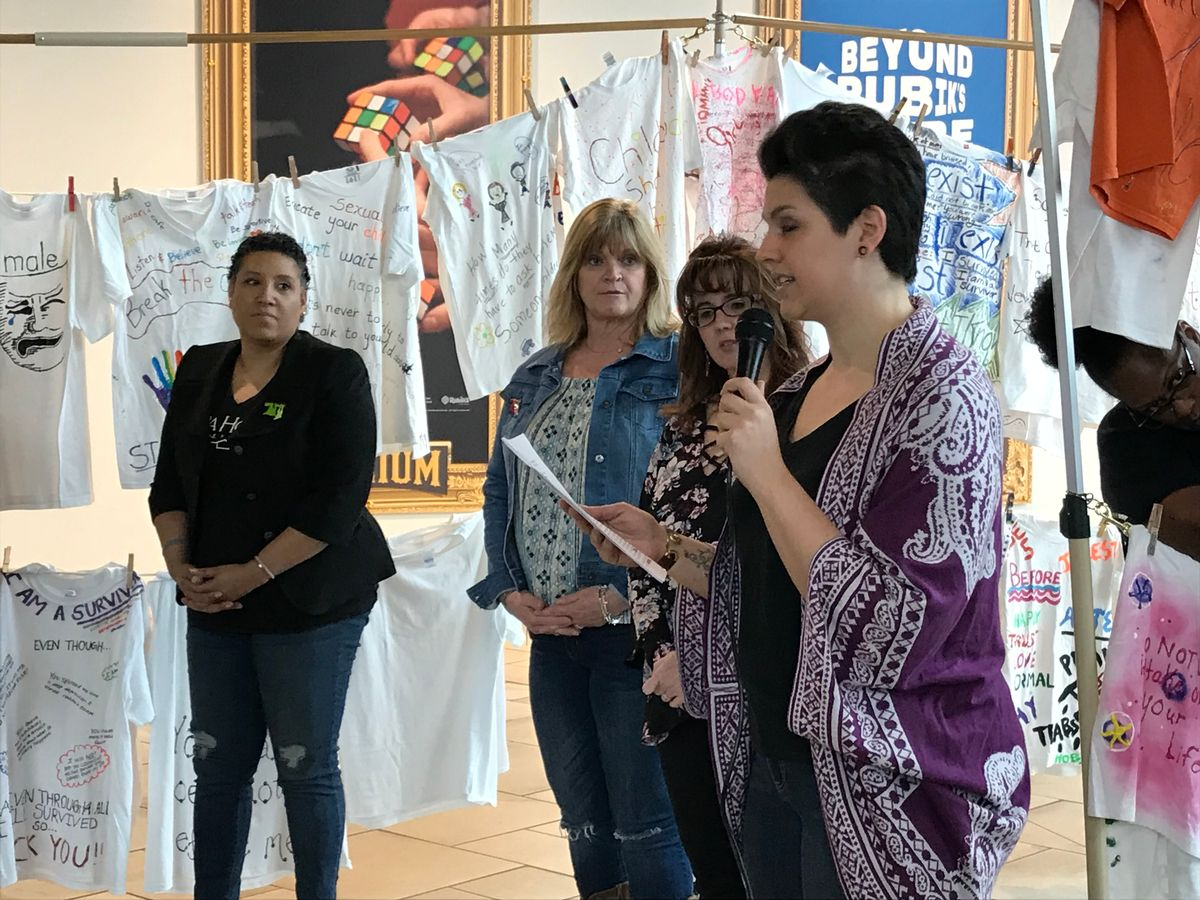 Clothesline Closing Ceremony, April 2018 -