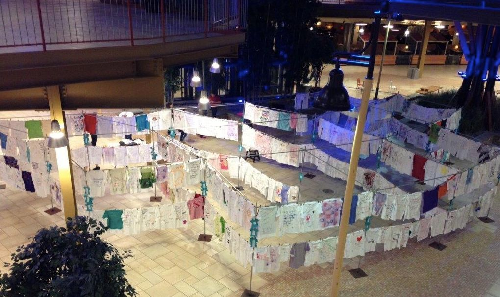 Clothesline Project display