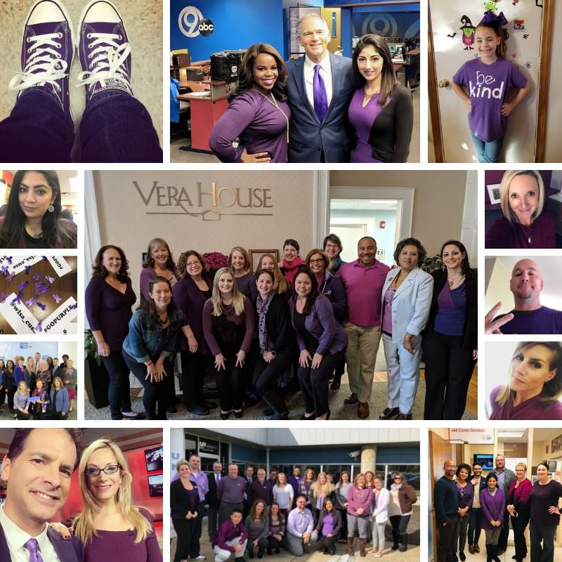 Our community celebrates Purple Thursday, Oct 2018 -