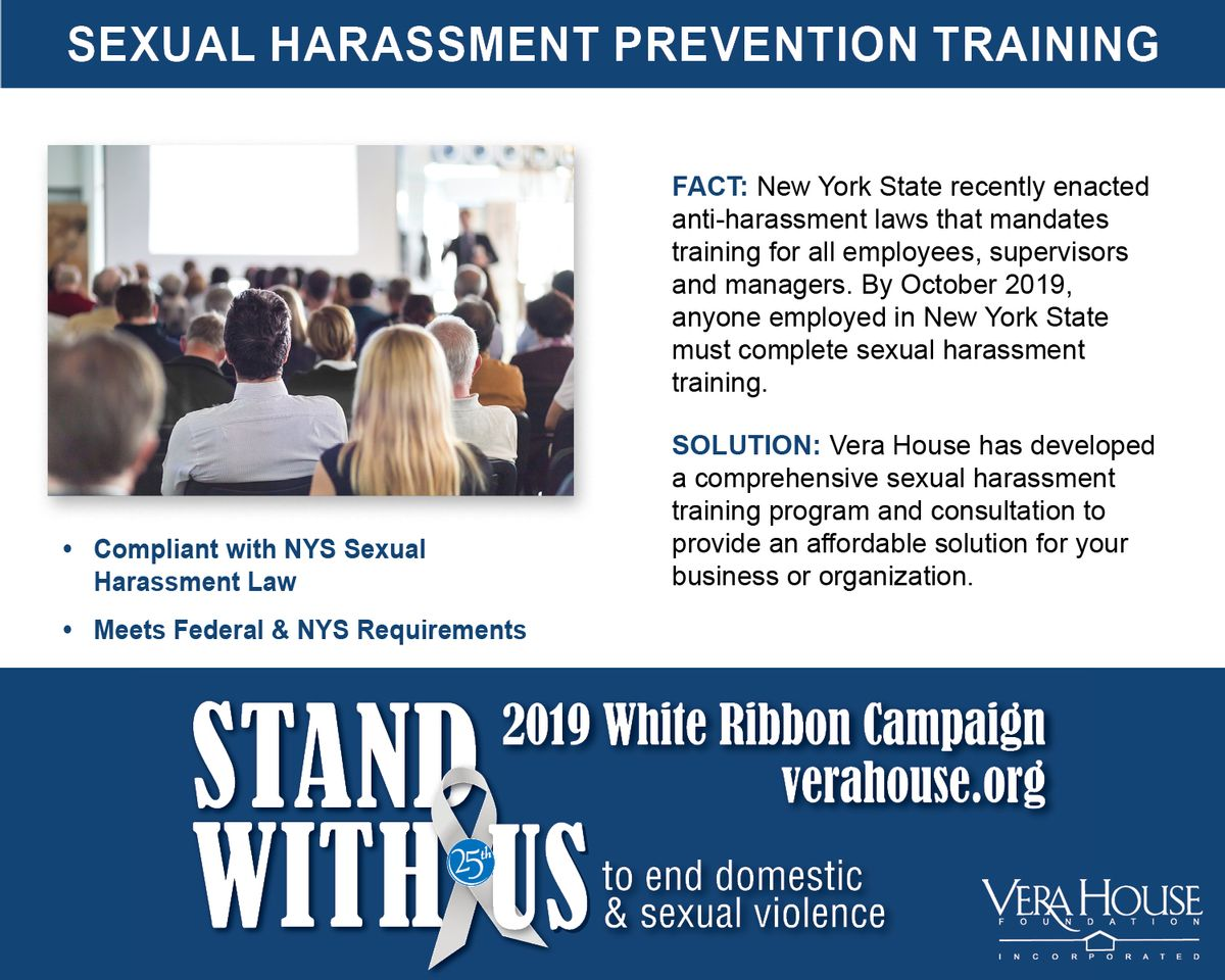Vera House Sexual Harassment Prevention Training -