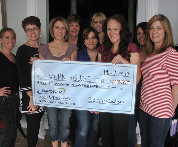 Perfect Vera House Receives $2,200 From Cut A Thon