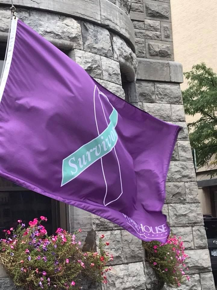 Survivors' flag raising at City Hall, Oct 2018 -