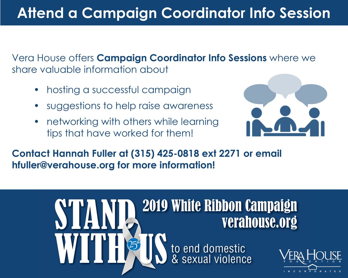 White Ribbon Campaign Information Sessions -